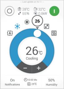 ダイキンスマートアプリ操作画面3